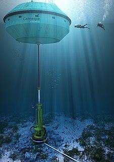 CETO experimental wave energy electricity generator / desalinator