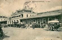 Gare de Clermont-Ferrand en 1908