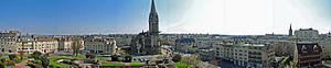 Caen - The Caen skyline facing the Saint-Pierre Church. Photo taken from the Château de Caen – April 2007.