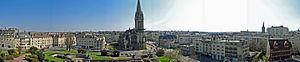 Caen - The Caen skyline facing the Saint-Pierre Church. Photo taken from the Château de Caen – April 2007.