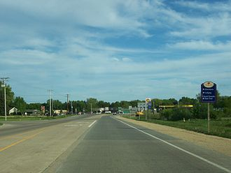 U.S. Route 12 in Wisconsin - US 12/US 18 eastbound at southern terminus of WIS 134 in Cambridge
