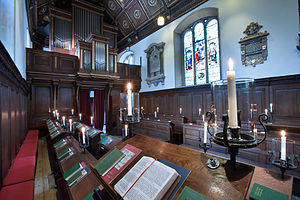 Gonville and Caius College, Cambridge - Interior of the chapel.