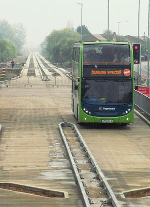 Cambridgeshire Guided Busway - Image: Cambridge Busway Stagecoach Scania N230 Cropped