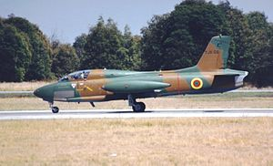 Cameroon Air Force - A Cameroon MB326 Impala taxing