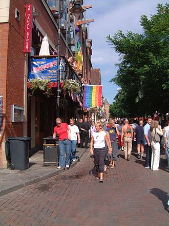Russell T Davies - Image: Canal Street, Europride 2003