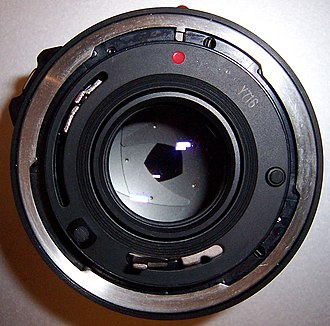 Canon FD lens mount - Canon New FD lens mounting surface.