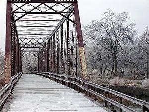 Caplinger Mills Historic District - Caplinger Mills Bridge, December 2007