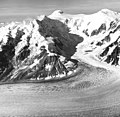 Capps Glacier, valley glacier, icefall on the mountain peaks, August 23, 1960 (GLACIERS 6432).jpg