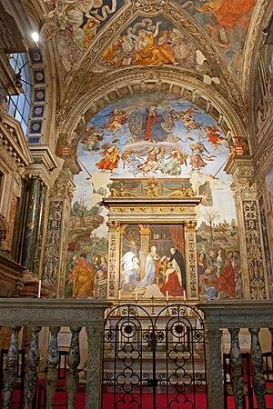 Santa Maria sopra Minerva - Carafa chapel in 2010