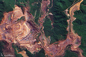 Vale (company) - Vale's Carajás Iron Mine, Pará, 2009 NASA satellite photo