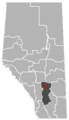 Carbon, Alberta Location.png
