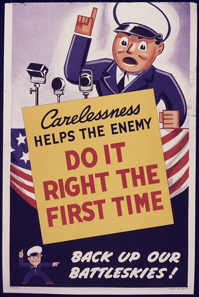File:Carelessness helps the enemy. Do it right the first time. Back up our battleskies. - NARA - 535057.jpg