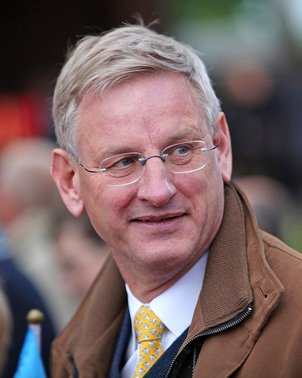 Carl Bildt under nationaldagsfirande vid Skansen 2009