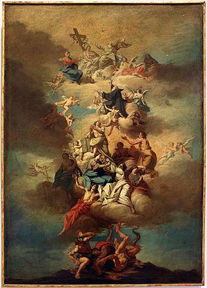 Carlo Maria Giudici - Glory of Saint Francis of Padua, 1750-60 circa, Castello Sforzesco, Milan