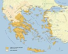 carte du monde grec antique Grèce antique — Wikipédia