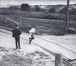 1904 Summer Olympics - Felix Carvajal on his way to 4th at St. Louis Olympic's Marathon