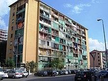 Le case popolari di via Pascarella prima della ristrutturazione