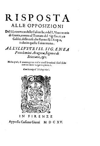 Benedetto Castelli - Risposta alle opposizioni