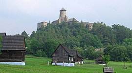 Castle of Lubovna and museum of slovak village.jpg