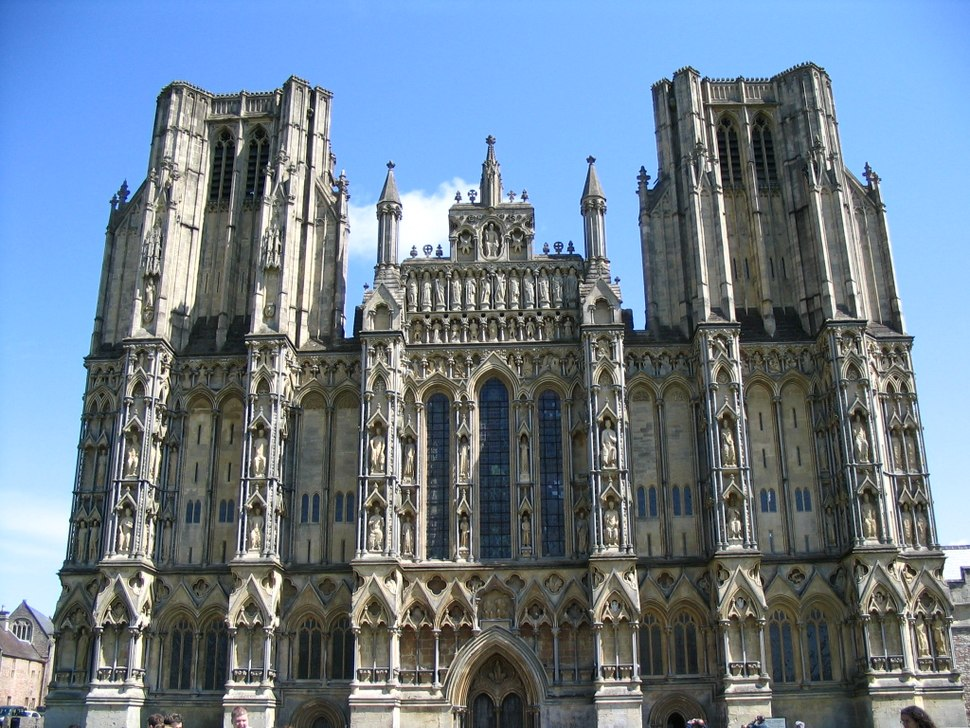 Cathedrale de wells front ouest