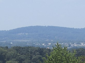 Frederick, Maryland - A view of Catoctin Mountain from the south of Frederick
