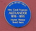 "Cecil Francis Alexander writer of ""There is a Greenhill far Away"" and ""Once in Royal David's City"" She was wife of Bishop Alexander of Londonderry. - panoramio.jpg"