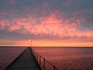 Ceduna, South Australia - Ceduna, South Australia jetty in autumn