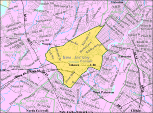 Totowa, New Jersey - Image: Census Bureau map of Totowa, New Jersey