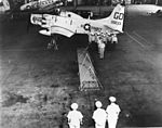 Ceremony with EA-1F ov VAW-33 at NAS Quonset Point in 1963.jpg