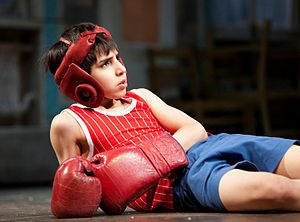 Billy Elliot the Musical - Cesar Corrales in a scene from the Chicago production.