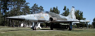 Canadair CF-5 - Canadian Air Force CF-116 Freedom Fighter, displayed at CFB Borden