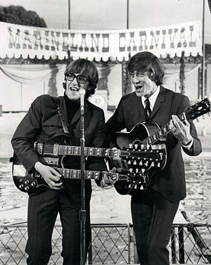 Chad & Jeremy - The duo performs for a television special at Marineland, 1966