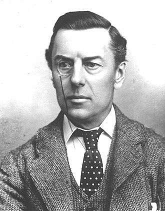 Monocle - Joseph Chamberlain wearing a monocle