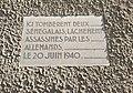 Champagne-au-Mont-d'Or - Plaque commémorative deux sénégalais 1940 (août 2018).jpg