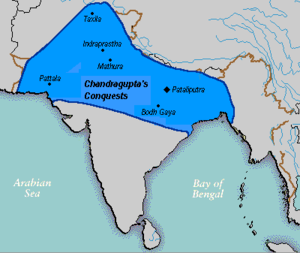 Seleucid–Mauryan war - Chandragupta Maurya's Empire circa 320 BCE. His dynasty would later control the vast majority of India.