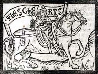 The Clerk's Tale - The Clerk from The Canterbury Tales, as shown in a woodcut from 1492