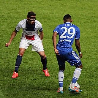 Thiago Silva - Thiago Silva on action for PSG in 2014.