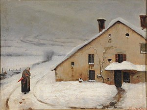 Augustin Chenu - Cottage in the Winter