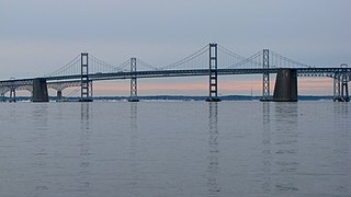 Chesapeake Bay Bridge major dual-span bridge in the U.S. state of Maryland, spanning the Chesapeake Bay