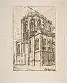 Chevet de St. Martin-sur-Renelle (The apse of the Church of St. Martin-sur-Renelle, Paris, after Langlois) MET DP813219.jpg