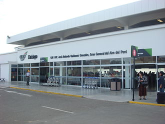 Chiclayo - The entrance to the passenger terminal.
