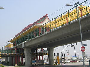 Chinatown station (Los Angeles Metro) - Station view