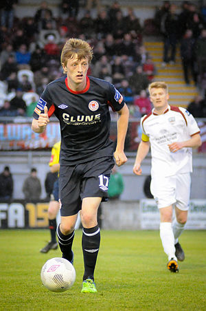 Christopher Forrester - Chris Forrester in action for St Patrick's Athletic away to Galway United in 2015