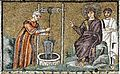 Christ and the Samaritan in the well - Sant'Apollinare Nuovo - Ravenna 2016.jpg