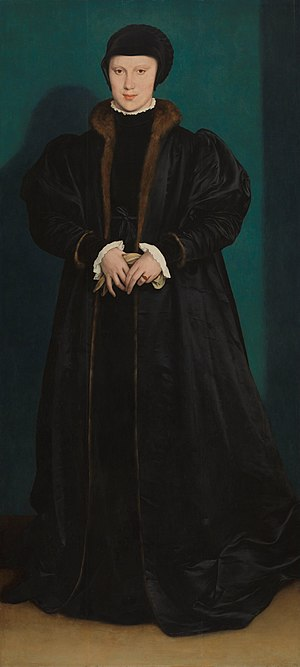 Christina of Denmark - Portrait of Christina of Denmark by Hans Holbein the Younger, 1538 National Gallery, London