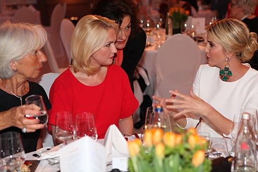 Christine Lagarde, Manuela Schwesig, and Ivanka Trump at the W20 Conference Gala Dinner