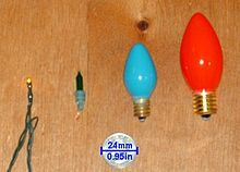The four most common bulb sizes used in the united states from left