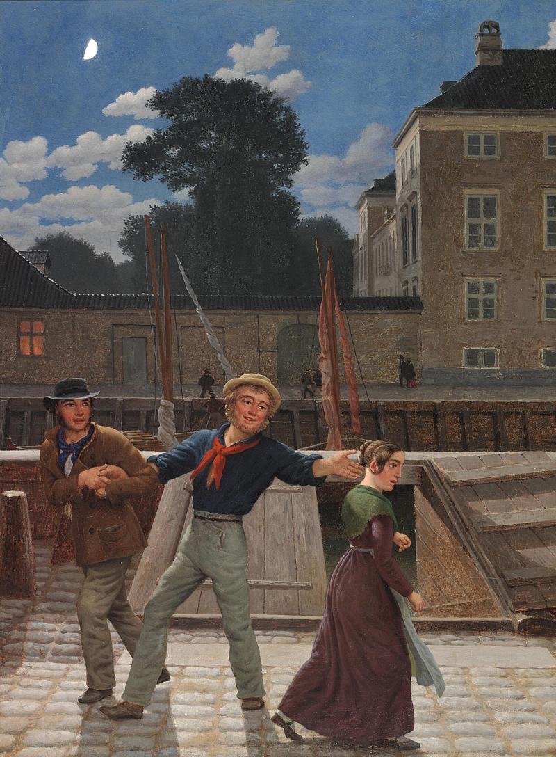 Christoffer Wilhelm Eckersberg - Det lykkelige møde.png