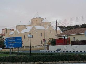 Agios Tychonas - Image: Church of Saint Annas and Stilianos at Ayios Tychonas 2