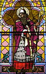 Church of the Sacred Heart (Coshocton, Ohio) - stained glass, Saint Patrick.JPG